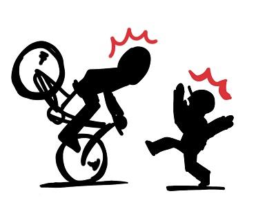 自転車で赤切符は前科?警告カードとの違い